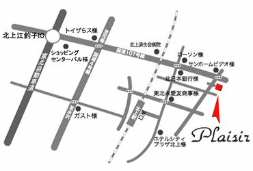 プレジール地図